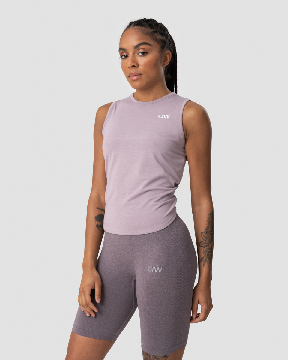 Empowering Open Back Tank Top Mauve